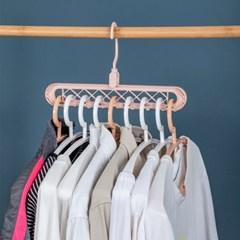 옷장 공간활용 멀티옷걸이/ 회전고리 티셔츠 옷걸이
