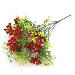 3+2행사 레드커런트 인테리어조화 부쉬 고급조화 산소꽃 성묘꽃