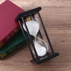 블랙원목 인테리어 모래시계(30분)/ 유리모래시계
