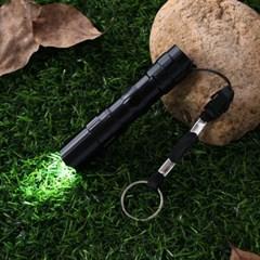 파워온 LED 슬림 손전등(블랙) / 휴대용 후레쉬