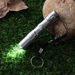 파워온 LED 슬림 손전등(실버) / 휴대용 후레쉬
