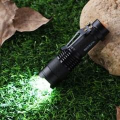 파워킹 LED 미니 손전등 / 블랙 줌라이트 후레쉬
