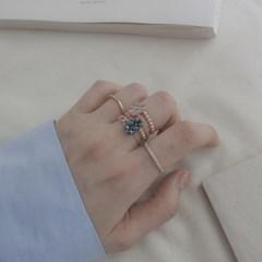 18k 반지 두줄 다이아몬드 링_(1098148)