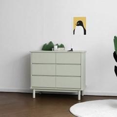 [코코엣지] A형 6칸서랍장 : 블랑그린_(1456498)