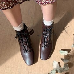 kami et muse Lace up short ankle boots_KM19w291