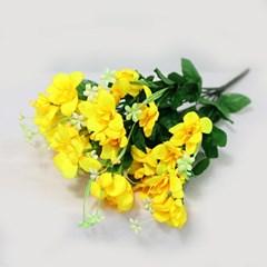 3+2행사 후리지아 인테리어조화 부쉬 고급조화 산소꽃 성묘꽃