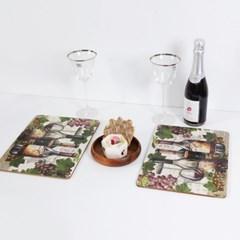 제이슨 그레이트 와인 프리미엄 식탁매트(소) 6Pset