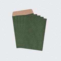 크라프트 체크그린 봉투 5매