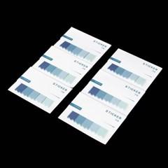 블루 접착 인덱스메모지 6p세트 /메모지플래그