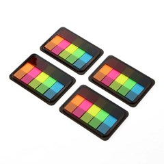 5색 인덱스메모지 4p세트 / 플래그형 필름메모지
