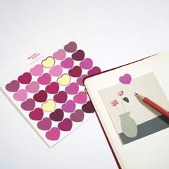 하트 스티커 핑크 heart stickers pink
