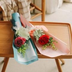 벨라 한송이 왕장미 유칼리 로즈 꽃다발 4개(1세트)-발_(100869502)