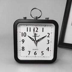 퀴리 사각형 알람시계 / 무소음 탁상시계
