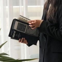 MERCI A5 태블릿 파우치 - Deep blue
