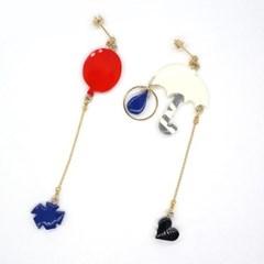 토이액세서리 핸드메이드 비 온 뒤의 향기 귀걸이 - Toy accessory