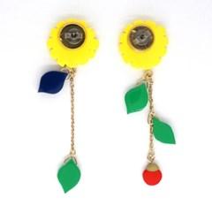 토이액세서리 핸드메이드 해바라기 귀걸이 - Toy accessory
