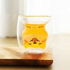 시바견 이중유리컵