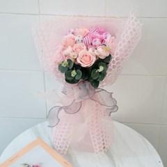 사탕꽃다발 핑크장미