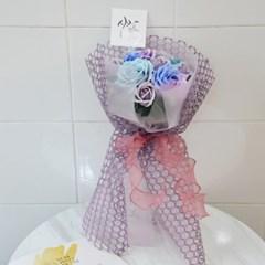 신비로운 오션블루 장미꽃다발