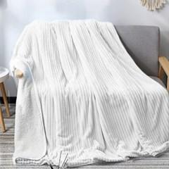 럭스 양면 담요이불(화이트) / 극세사 대형담요