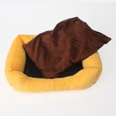 슬라퍼 애견방석(오렌지)/강아지집 애견하우스