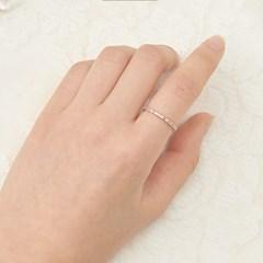 멀티 로즈골드 큐빅 반지