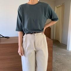 스판 울 라운드 소프트 티셔츠