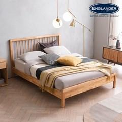 아스티 전체 고무나무 원목 침대(DH 7존 라텍스 독립매트-Q)