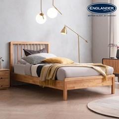 아스티 전체 고무나무 원목 침대(NEW E호텔 양모라텍스 7존 독립-SS)