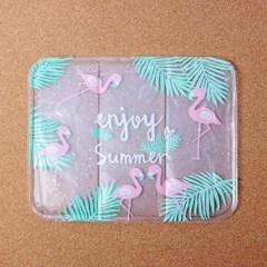 썸머 플라밍고 아이스 방석/여름방석 쿨방석 얼음방석