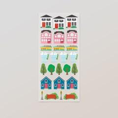 [스튜디오 퐁듀] vintage village 빈티지빌리지 씰스티커
