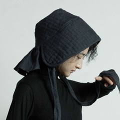 퀼티드 린넨 보넷 : Quilted linen bonnet - Navy