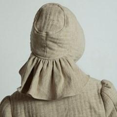 퀼티드 린넨 보넷 : Quilted linen bonnet - Beige