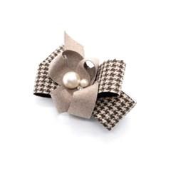hound check hairpin (beige)