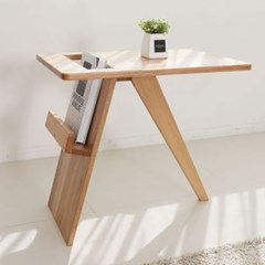 브리힐 100% 오크원목 매거진 사이드 테이블_(1366916)