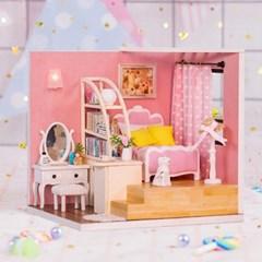 DIY 미니어처 코지 하우스 - 핑크 침실_(1278438)
