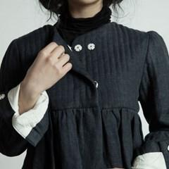 퀼티드 린넨 자켓 : Quilted linen jacket - Navy