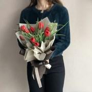 [조화/실크플라워] 인테리어 조화 프리미엄 고급 튤립 꽃다발 (Red)