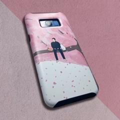 [무광] 동주와 고양이 벚꽃 나무 위에서 휴대폰 케이스