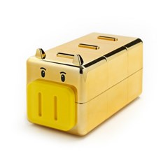 골드 칸칸 돼지저금통(중)/사은품 황금돼지 저금통