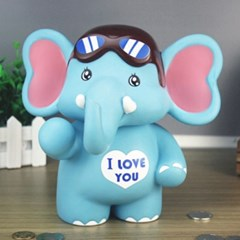 알럽 코끼리 저금통/ 저축 동전저금통
