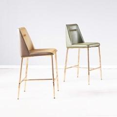 [데코마인] 니타 로즈골드 바체어 홈바의자 카페의자