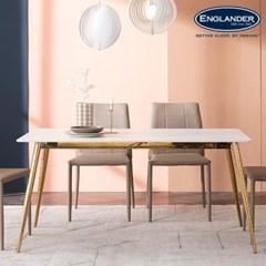 잉글랜더 리우 마블화이트 통세라믹 6인용 식탁(의자 미포함)