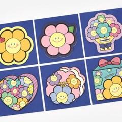 핑크풋 해피플라워 카드(6종1세트)