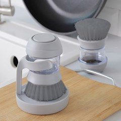 거주청소 세제펌프 주방 욕실청소 브러쉬 원통형