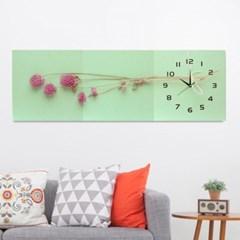 월데코 병풍 벽시계(플라워)/그림액자 인테리어벽시계
