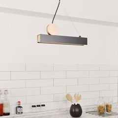 LED 7W 식탁등 마르디 1등 펜던트 블랙_(1767418)