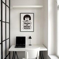 치카치카 이닦기 M 유니크 인테리어 디자인 포스터 바이러스
