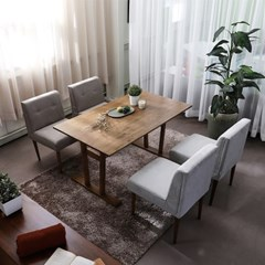 순수 원목 4인 식탁테이블
