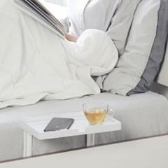 큐소닉 침대 사이드 테이블 폰 스탠드 (White_3 Sizes)